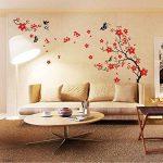 Walplus Stickers muraux style cerisier en fleurs et papillons de la marque WALPLUS image 1 produit