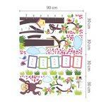 Walplus (TM) Stickers muraux repositionnables pour chambre d'enfant Motif singe mesure Walplus Stickers muraux Alphabet pour chambre d'enfant Kid's Room, 148 x 167 cm (Multicolore) de la marque WALPLUS image 3 produit