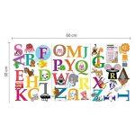 Walplus (TM) Stickers muraux repositionnables pour chambre d'enfant Motif singe mesure Walplus Stickers muraux Alphabet pour chambre d'enfant Kid's Room, 148 x 167 cm (Multicolore) de la marque WALPLUS image 4 produit