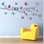 Walpus Stickers muraux pour chambre d'enfant Magnolia/papillons brillants en 3D de la marque WALPLUS image 1 produit