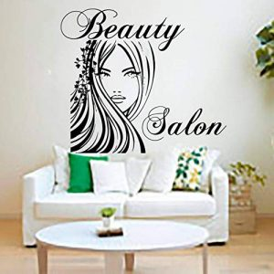 WALSTICKEL Wall Sticker Salon De Beauté Top Model Fille Sticker Mural Amovible Home Decoration Hollow Out Murales Murales, 59Cm X 70Cm de la marque WALSTICKEL Wall Sticker image 0 produit