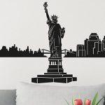 Wandkings Skyline Sticker mural cityscape Autocollant muralde 125x 30cm en noirVotre ville au choix, New York de la marque Wandkings image 2 produit