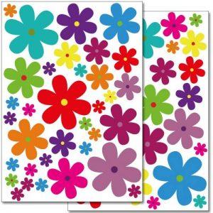 Wandkings WS-50052 Lot de 62 autocollants de décoration murale 2 feuilles Format A4 Motif fleurs 60x20cm de la marque Wandkings image 0 produit