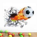 WandSticker4U murale Sticker mural football en aspect 3d | Sticker mural WM EM Sport maçonnerie Poster mural autocollant décoratif pour chambre d'enfant garçon, salon, cuisine, couloir - B. 50x70 Cm de la marque WandSticker4U image 1 produit