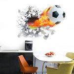 WandSticker4U murale Sticker mural football en aspect 3d | Sticker mural WM EM Sport maçonnerie Poster mural autocollant décoratif pour chambre d'enfant garçon, salon, cuisine, couloir - B. 50x70 Cm de la marque WandSticker4U image 2 produit