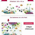WandSticker4U- Sticker mural Chambre d'enfant Monde sousmarin Eau de Aquarium Poissons Mer | 130x42 cm | Stickers muraux pour Carrelage Autocollant Salle de Bain de la marque WandSticker4U image 3 produit