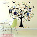 Wandsticker4u - Sticker mural riesiger photo arbre - Effet image: 160 x 240 cm - Sticker mural Cadre Photo Famille autocollant mural arbre décoration pour salon, cuisine, Porte-manteau, couloir XXL de la marque WandSticker4U image 3 produit