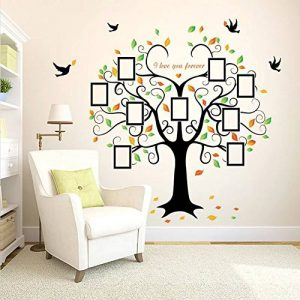 Wandsticker4u - Sticker mural riesiger photo arbre - Effet image: 160 x 240 cm - Sticker mural Cadre Photo Famille autocollant mural arbre décoration pour salon, cuisine, Porte-manteau, couloir XXL de la marque WandSticker4U image 0 produit