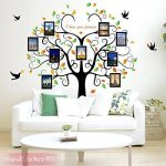 Wandsticker4u - Sticker mural riesiger photo arbre - Effet image: 160 x 240 cm - Sticker mural Cadre Photo Famille autocollant mural arbre décoration pour salon, cuisine, Porte-manteau, couloir XXL de la marque WandSticker4U image 1 produit