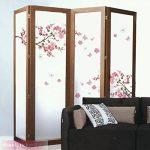 Wandsticker4u - XL Sticker mural Fleurs de cerisier Fleurs avec papillons | 165 x 75 cm | Sakura Pêche branche d'arbre forêt autocollant décoration pour salon chambre Porte-manteau cuisine couloir de la marque WandSticker4U image 3 produit
