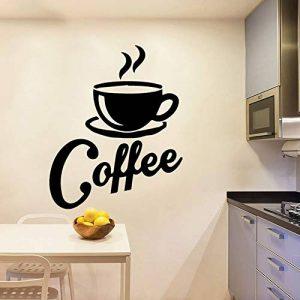 Wandtattoo Schlafzimmer Wandaufkleber Schlafzimmer Kundenspezifischer Kaffee-Dekor für Wohnzimmer-Firmenschulbüro-Dekoration de la marque Kisao image 0 produit