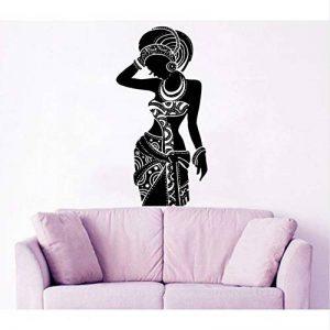 Waofe Afrique Style Sticker Tribal Africaine Femme Boho Vinyle Autocollants Chambre Salon Décor À La Maison Moderne Canapé Fond Nouveau 42 * 82Cm de la marque Waofe image 0 produit