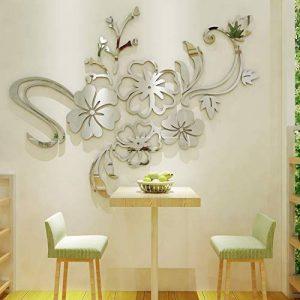 Warmcasa Sticker Mural 3D Althea Autocollants Décorations pour Maison Chambre Salon 165 x 124 cm (L, Argent) de la marque Warmcasa image 0 produit