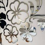 Warmcasa Sticker Mural 3D Althea Autocollants Décorations pour Maison Chambre Salon 165 x 124 cm (L, Argent) de la marque Warmcasa image 1 produit