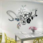 Warmcasa Sticker Mural 3D Althea Autocollants Décorations pour Maison Chambre Salon 165 x 124 cm (L, Argent) de la marque Warmcasa image 2 produit