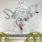Warmcasa Sticker Mural 3D Althea Autocollants Décorations pour Maison Chambre Salon 165 x 124 cm (L, Argent) de la marque Warmcasa image 3 produit