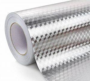 WDragon de Cuisine étanche en Feuille d'aluminium Stickers Anti Gras de comptoir Peel bâton Stickers muraux, 61x 200,7cm de la marque WDragon image 0 produit