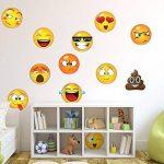 WHFDRHQT sticker mural Stickers Autocollant mural grand format avec 12 faces Emoji de la marque WHFDRHQT image 2 produit