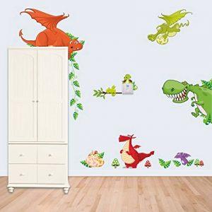 Winhappyhome Stickers Dragon Animaux Zoo Enfants Chambre Kindergarten Contexte DéCalques Amovibles de la marque Winhappyhome image 0 produit