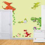 Winhappyhome Stickers Dragon Animaux Zoo Enfants Chambre Kindergarten Contexte DéCalques Amovibles de la marque Winhappyhome image 3 produit