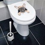 Winston & Bear Autocollants Chiens Muraux 3D - Paquet de 2 - Autocollants Décoratifs Drole - Stickers Chien Mignon Bouledogue Français Pour Mur - Frigo - Toilette - Salle - Voiture - Réfrigérateur de la marque Winston & Bear image 2 produit