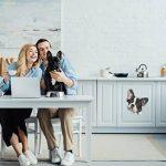 Winston & Bear Autocollants pour Chien 3D - 2 Pack - Noir et Blanc français Autocollants Bulldog Mur, réfrigérateur, Toilettes et Plus Frenchie Autocollants de la marque Winston & Bear image 1 produit