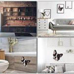 Winston & Bear Autocollants pour Chien 3D - 2 Pack - Noir et Blanc français Autocollants Bulldog Mur, réfrigérateur, Toilettes et Plus Frenchie Autocollants de la marque Winston & Bear image 3 produit