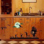 WISDOM Festive Celebration Décorez Happy Wall Sticker Witch Sorcière Bat Spider Web Fenêtre Autocollant en Verre Sticker Mural,comme montré,60 * 90cm de la marque WISDOM image 3 produit