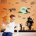 WISDOM Festive Celebration Décorez Happy Wall Sticker Witch Sorcière Bat Spider Web Fenêtre Autocollant en Verre Sticker Mural,comme montré,60 * 90cm de la marque WISDOM image 4 produit