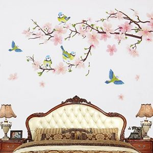 Wopeite Adhésif Mural Floral Auto-Collant à Poser Soi-Même Pêcher en Fleur Branche d'Arbre Sticker Pose Rapide pour Séjour et Chambre (45 X 60CM) de la marque Wopeite image 0 produit