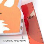 Wopeite Règle Graduée pour Toise Tableau de Croissance 3D Amovible Taille Portable Support Ecriture Stickers Muraux Petit Renard Stickers Appui-Tête EVA Stickers Autocollants Chambre d'Enfants de la marque Wopeite image 2 produit