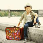 World Travel Emplacements Valise Autocollants - Set de 28 étiquettes de bagages Decal de la marque Supertogether image 2 produit