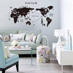 World Trip Carte Noire Wall Sticker Pour Le Salon Chambre Bureau Contexte Stickers Amovibles ¨¦Tanches de la marque Winhappyhome image 2 produit