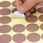 WOWOSS 11 Feuilles Polka Dot Autocollants Or Rose Polka Dot Autocollants Décor 220 Points Sticker Mural Cercle pour Décorer Pièce de la marque WOWOSS image 3 produit