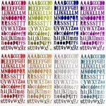 WXJ13 8 Couleurs Lettre Stickers Autocollants Lettres de l'alphabet Stickers Matériau PU, Chaque Couleur One Feuilles de la marque WXJ13 image 1 produit