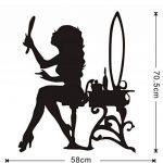 xlei Sticker Mural Belle Femme À La Recherche De Miroir Mur Autocollant Motif Maquillage Style Vinyle Auto-Adhésif Salon Stickers Murale Salon Décor À La Maison de la marque xlei image 3 produit