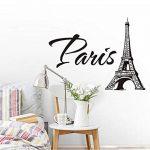 xlei Sticker Mural Stickers Muraux Paris La Tour Eiffel Salon Chambre TV Canapé Fond Muursticker Décoration Murale Amovible PVC Autocollants58X72Cm de la marque xlei image 2 produit