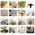 Yosoo DIY 3D Horloge Murale Design Géante Grande Taille Moderne Ronde avec Chiffres Romains pour Décoration Salon Bureau - Argent de la marque Yosoo image 4 produit