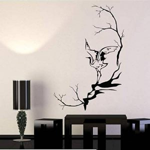 ZHUWall Héron Oiseau Branches D'Arbres De Style Asiatique Vinyle Sticker Décor À La Maison Art Mural Amovible Stickers Muraux 58X60 Cm de la marque ZHUWall image 0 produit