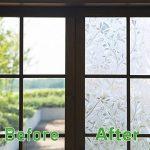 Zindoo Film pour Vitre Sticker pour Fenetre Film Adhesif Fenêtre 3D Film Fenetre Anti Regard Motif Tulipes Fleur pour Decoration Maison Bureau Portes Chambre Cuisine 44.5cm × 200 cm de la marque Zindoo image 1 produit