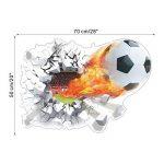 ZN Sticker mural amovible Motif ballon de foot Effet 3D de la marque ZN image 1 produit