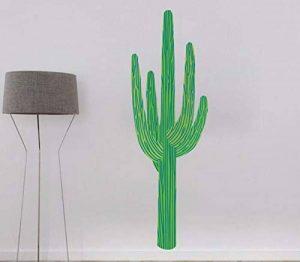 Zxfcczxf Grande Taille Cactus Stickers Muraux Plante Verte Vinyle Diy Art Murale Pour Le Salon Chambre Cuisine Décor À La Maison Étanche30 * 95 Cm de la marque zxfcczxf image 0 produit