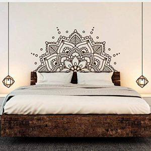 Zybnb Mandala Art Vinyle Stickers Muraux Yoga Bonjour Motif Boho Amovible Decal Tête De Lit Chambre Décoration Affiche 57X114Cm de la marque Zybnb image 0 produit