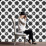 ZYX Stickers muraux carreaux en Vintage salle de bain et cuisine   adhésif sticker feuille pour carreaux salle de bain et crédence Autocollant de plancher Rétro noir et blanc CZ054 , 20cm*100cm*2pcs de la marque JY ART image 1 produit