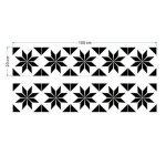 ZYX Stickers muraux carreaux en Vintage salle de bain et cuisine | adhésif sticker feuille pour carreaux salle de bain et crédence Autocollant de plancher Rétro noir et blanc CZ054 , 20cm*100cm*2pcs de la marque JY ART image 4 produit